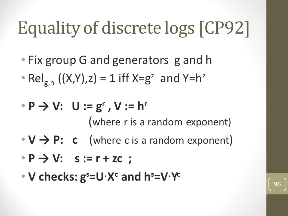 Equality of discrete logs [CP92]